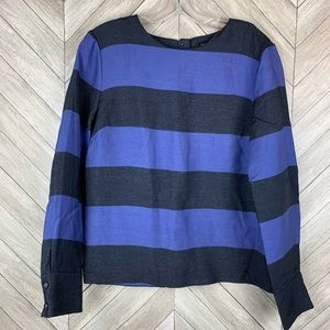 Banana Republic blue and black striped top small